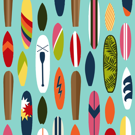 Anuenue Surfboards fabric by brittany_vogt on Spoonflower - custom fabric