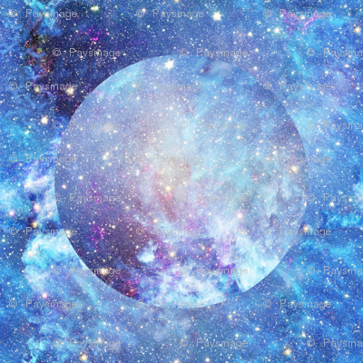 Fq design planet nebula starry sky fabric paysmage for Nebula fabric by the yard