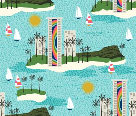 Hilton Hawaii fabric by charlottewinter on Spoonflower - custom fabric