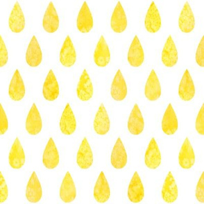 Raindrops - yellow - larger scale
