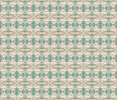 Blush Peach Turquoise Chic fabric by peaceofpi on Spoonflower - custom fabric