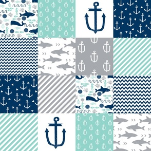 nautical cheater quilt