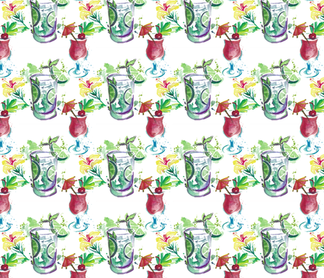 cocktails fabric by elise_marie_textiles on Spoonflower - custom fabric