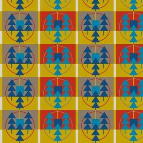 geometric pine gold