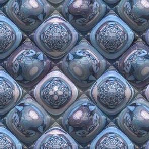 BLUE AGATHE OPAL PYRAMIDS 2 LOZENGE TILES
