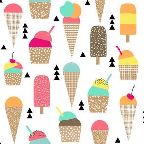 ice cream fabric large scale