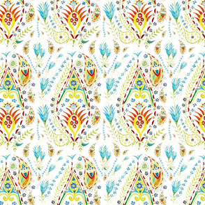 Whimsical Watercolor Paisley