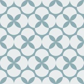 Two Color Bauhaus Floral