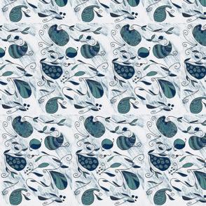 Paisley Swirl indigo tones