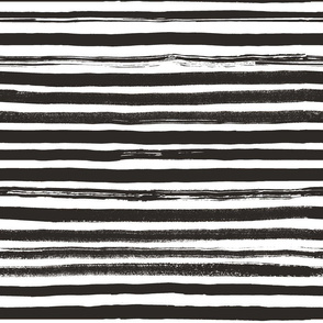 Watercolor Stripes Black and White