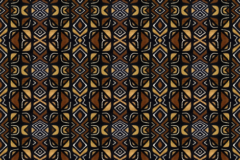 mudcloth 3 fabric by susaninparis on Spoonflower - custom fabric