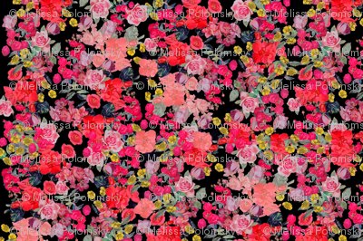 Antique Floral LARGE print // Black