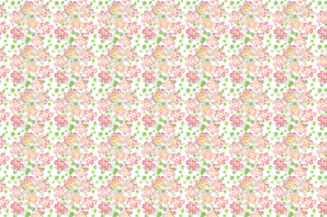 Hollyhock fabric by collectedhandstextiles on Spoonflower - custom fabric