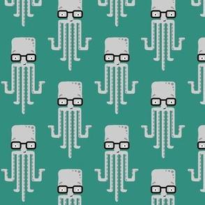 hipster octopus - green