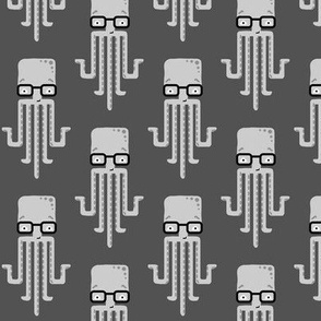 hipster octopus - grey