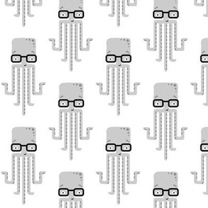 hipster octopus - white