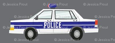 police car fabric - dark grey
