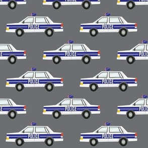 police car fabric - dark grey