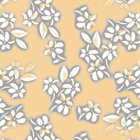 Six Petal Floral in orange fabric by joanmclemore on Spoonflower - custom fabric
