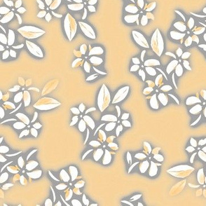 Six Petal Floral in orange