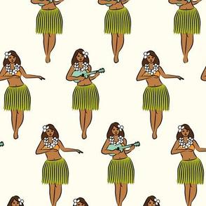 hula girl on cream