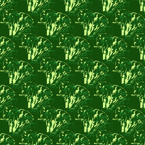 Broccoli in green fabric by plaid_thursdays on Spoonflower - custom fabric