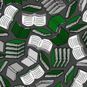 So Many Books... (Green and Silver)