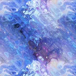 BLUE XL EVANESCENT MARBLE FLOWER IN THE SKY NEBULA