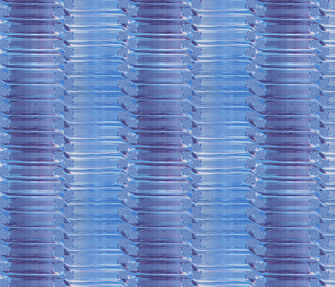 ICED STRIPED STEPS ILLUSION BLUE RECTANGLE fabric by paysmage on Spoonflower - custom fabric