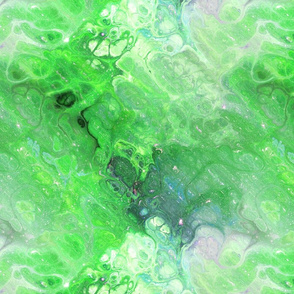 GREEN XL EVANESCENT MARBLE FLOWER IN THE SKY NEBULA
