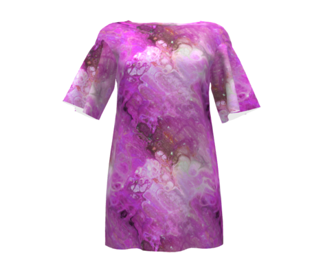PINK FUCHSIA XL EVANESCENT MARBLE FLOWER IN THE SKY NEBULA