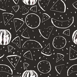 Black and White Melon Pattern