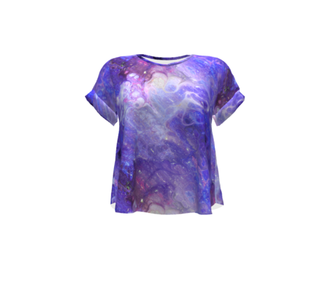 PURPLE XL EVANESCENT MARBLE FLOWER IN THE SKY NEBULA