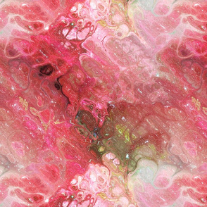 RED PINK  XL EVANESCENT MARBLE FLOWER IN THE SKY NEBULA