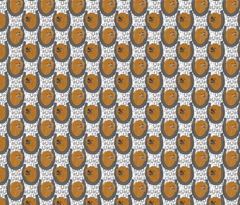 Pomeranian horseshoe portraits A - small fabric by rusticcorgi on Spoonflower - custom fabric