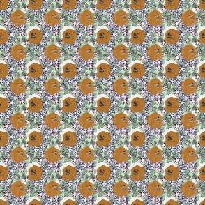 Floral Pomeranian portraits A - small