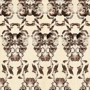 brown_flowers_brocade_pattern_1