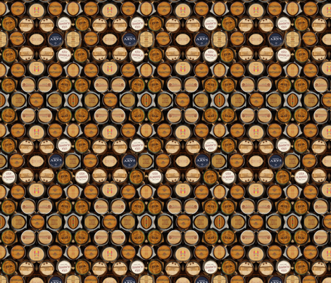 Barriles de vino fabric hypersphere spoonflower - Barriles de vino ...