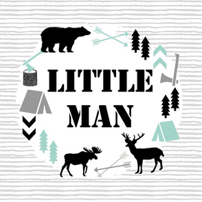 little man yard panel black grey and mint
