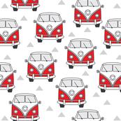 red vintage van