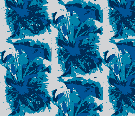 lily in indigo fabric by anniezs on Spoonflower - custom fabric