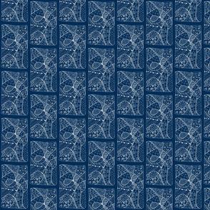 zentangle w indigo background