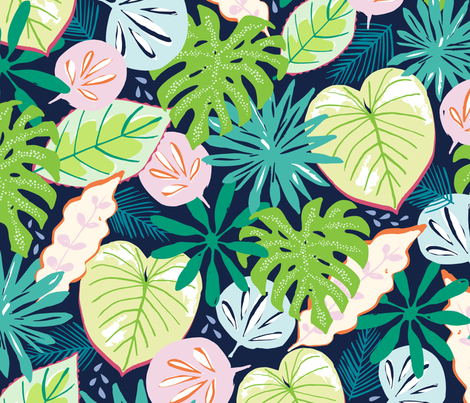 Large Tropical fabric by jillbyers on Spoonflower - custom fabric