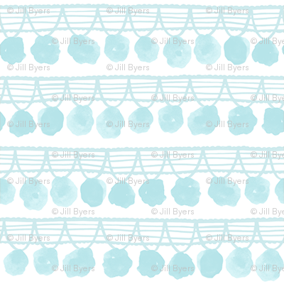 Mini Pom Poms -Light Blue