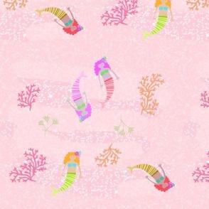 mermaids - 7 pink shimmer