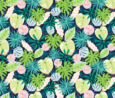 Tropical fabric by jillbyers on Spoonflower - custom fabric