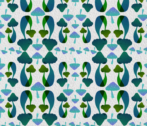Mushrooms! fabric by emi_jenkens_drake on Spoonflower - custom fabric