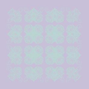 Interlaced Hearts - violet
