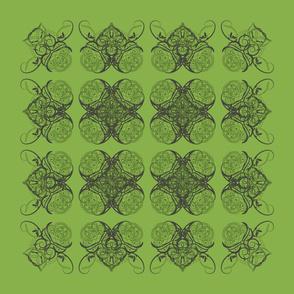 Interlaced Hearts - Green variation