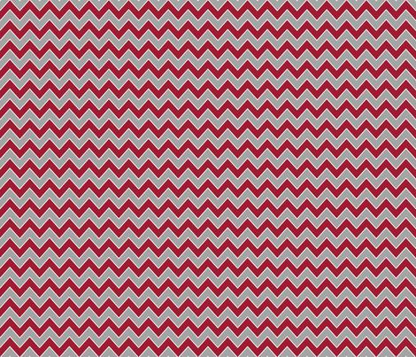 Chevron alabama colors crimson white and grey fabric pattern fabric by charlottewinter on Spoonflower - custom fabric